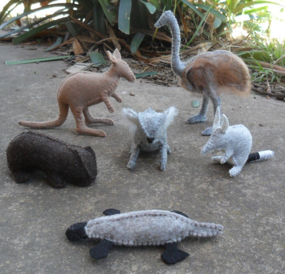 Hand Made Wool Felt Australian Theme Animals