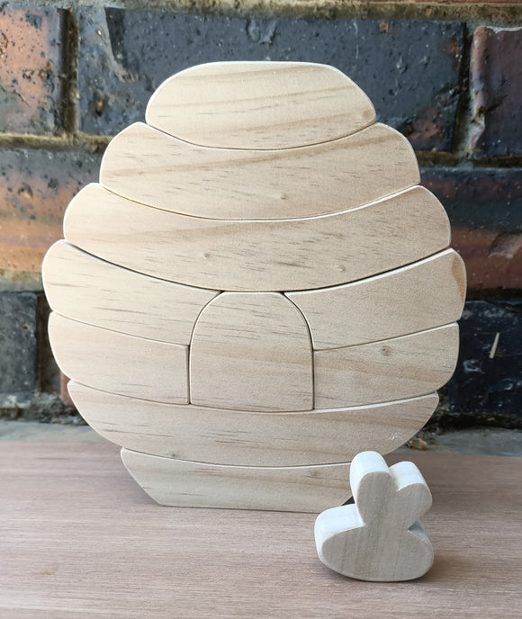 Large Wooden Bee Hive Stacking Puzzle