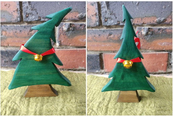 Painted Wooden Pine Tree