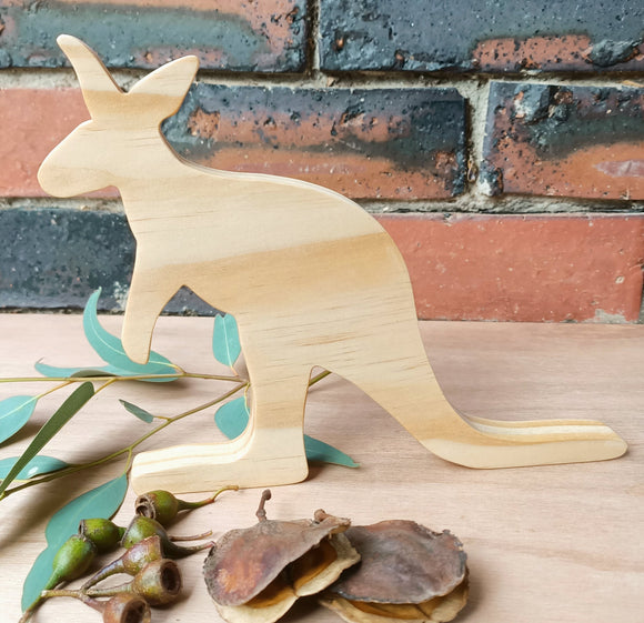 Wooden Kangaroo Shelfies