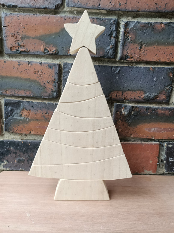 Large Christmas Tree Stacking Puzzle