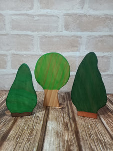 Set of Three Trees