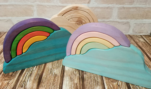 Wooden Rainbow Cloud