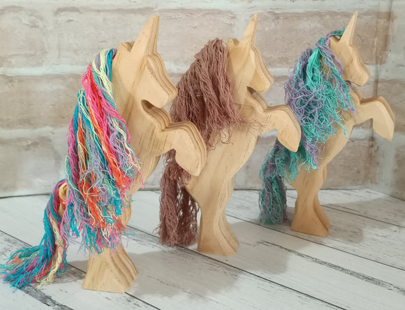 Large Wooden Unicorns