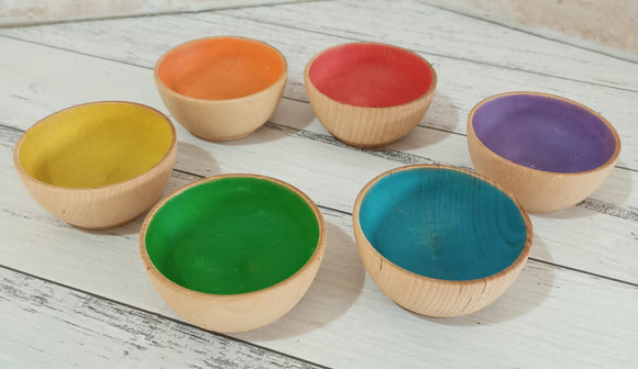 Rainbow Sorting Bowl Set of 6