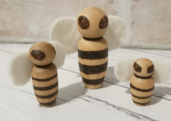 Peg Doll Bees Set of 3