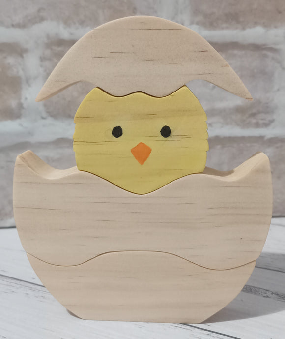 Wooden Chick in Egg Stacker