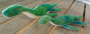 Adult and Child Plesiosaurus Dinosaur Set