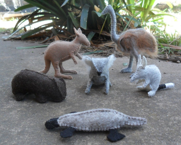 Wool Felt Australian Animals Set