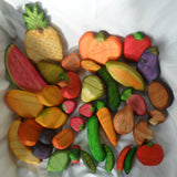 Full Wooden Play Fruit and Vegetable Set