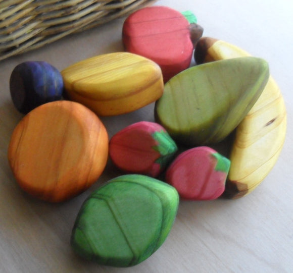 Waldorf Steiner Inspired Wooden Play Fruit Handmade