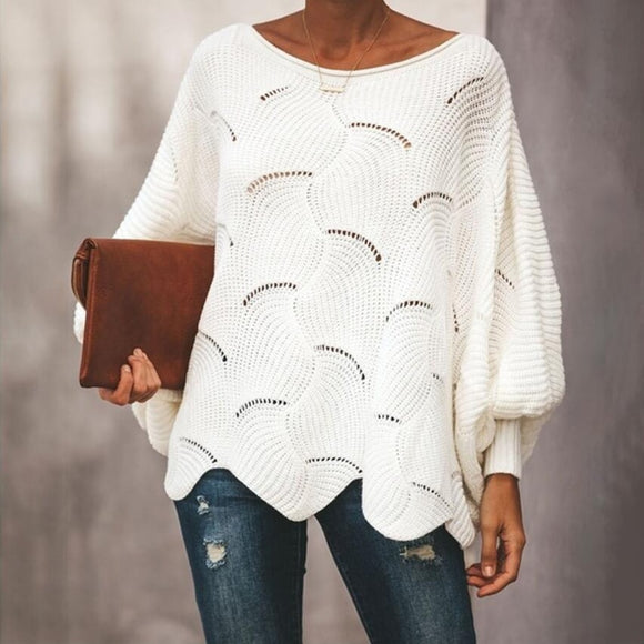 Laurel Scalloped Batwing Sweater