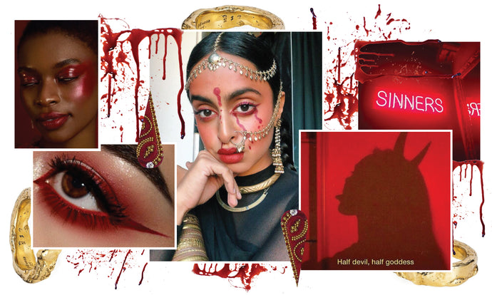 Halloween Makeup Ideas - Desi Devil Look - Red Set Tutorial for Dark Skin Tone
