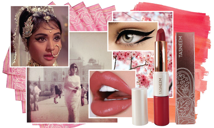 60's Makeup - Pink Monochromatic Makeup - Bollywood Beauty Tutorial