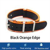 High quality seatbelt nylon nato watchstraps 2-tone Edge