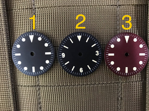 Sterile dials for project 28.5mm diameter