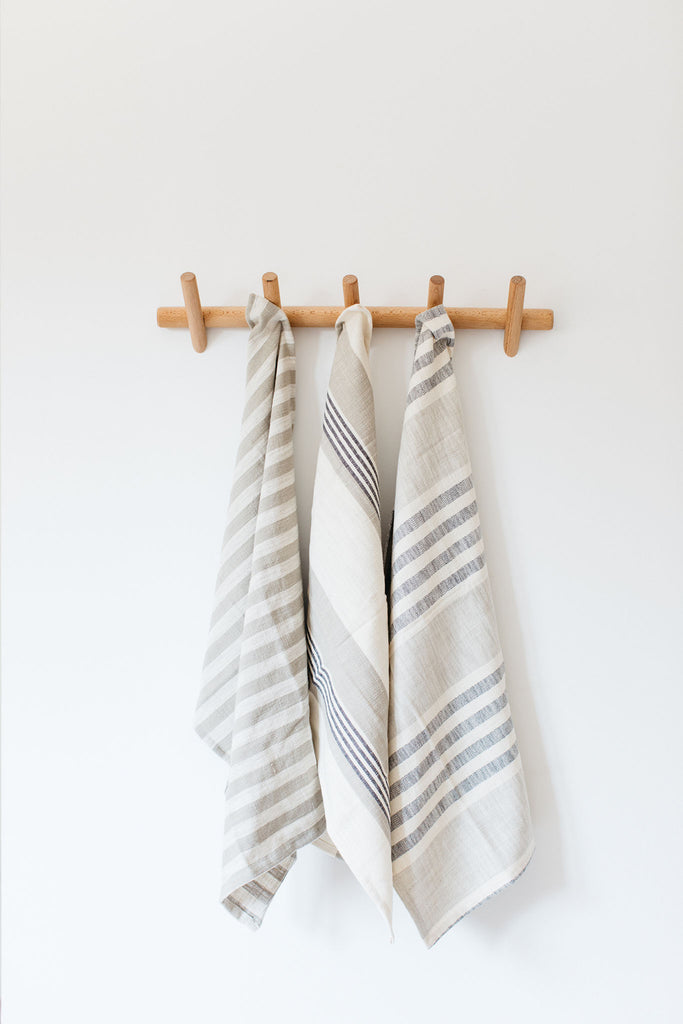 Woven Cotton Tea Towels - Set of 3