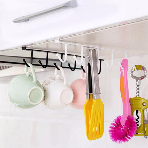 Metal Multi-Function Kitchen Shelf Hooks
