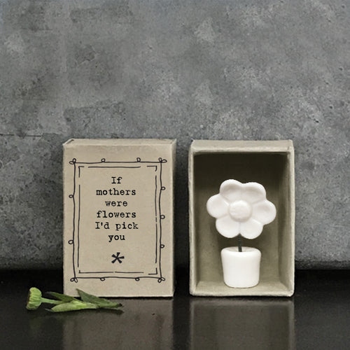 East of India matchbox gift - if mothers were flowers