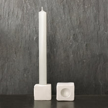 Load image into Gallery viewer, Porcelain cube candle holder - east of india