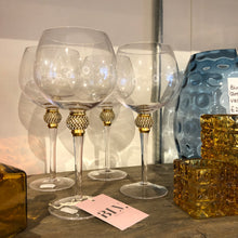 Load image into Gallery viewer, Gold Diamante Gin Glass