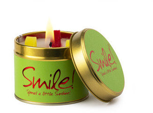 Lily Flame Smile Scented Tin Candle