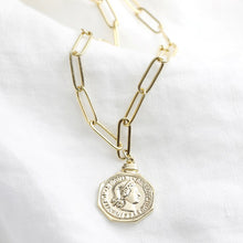 Load image into Gallery viewer, Lisa Angel Coin Pendant Necklace