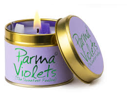 Lily Flame Parma Violets candle