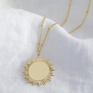 Lisa Angel Gold Sunbeam Pendant Necklace