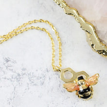 Load image into Gallery viewer, Lisa Angel Honeycomb Bubblebee Necklace