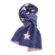 Load image into Gallery viewer, Star Print Pleated Scarf
