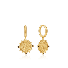 Load image into Gallery viewer, Ania Haie Gold Victory Goddess Mini Hoop Earrings