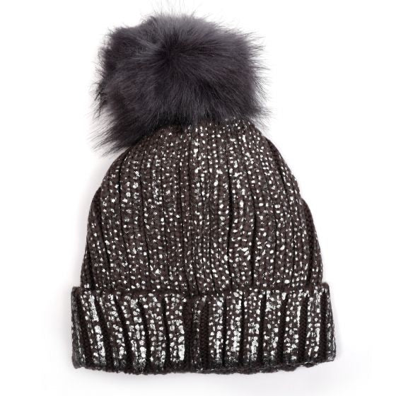 Sparkle faux fur Bobble Hat
