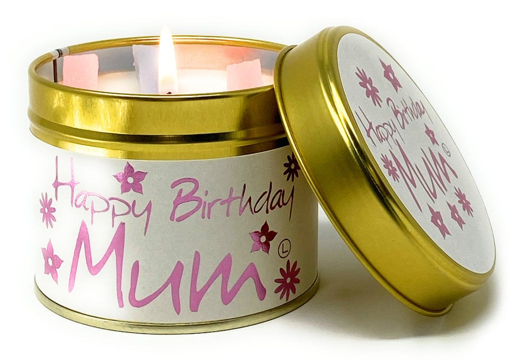 Lily Flame Happy Birthday Mum Candle