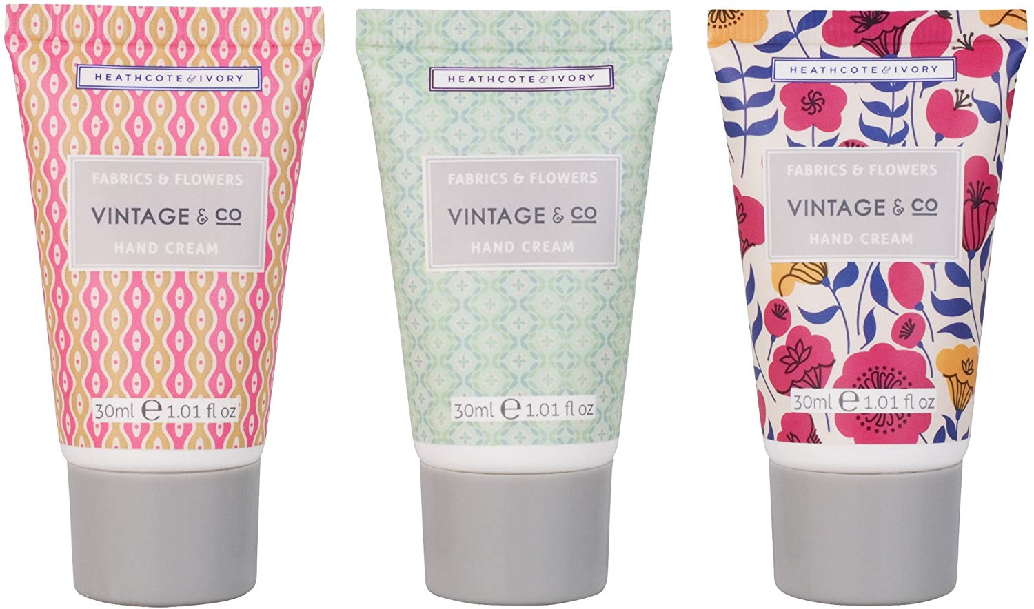 Vintage Fabric & Flowers Hand Cream Trio