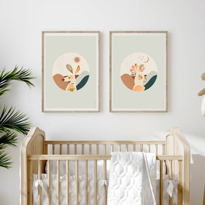 Booie & Bens SUNRISE ~ SUNSET Native Green Prints (PREORDER)