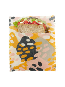 Beeswax Sandwich Bag – Stripes, Large