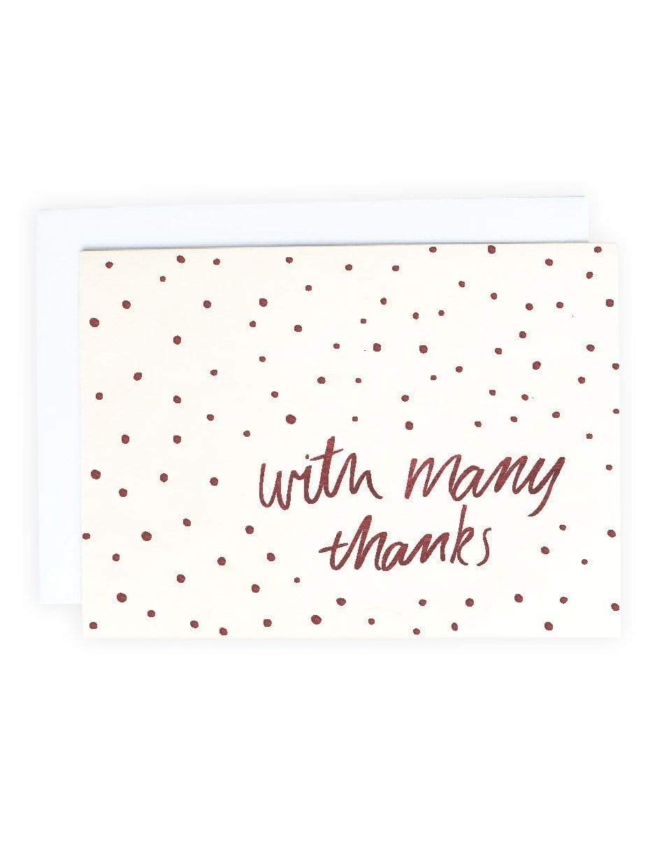 """With Many Thanks"" Thank You Card - Blushing Confetti"