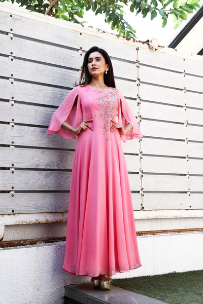 Rose Embroidery Kali Gown