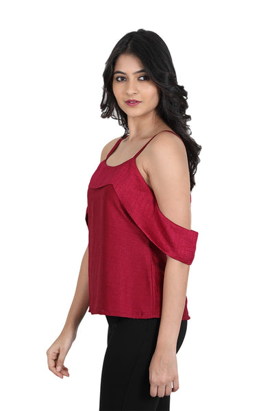 cold shoulder with stylish square neck at front