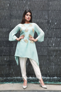 Comfy Designer Short Kurta with Dhoti Pants