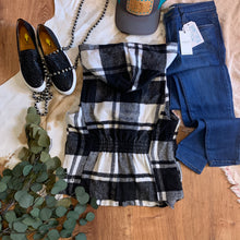 Load image into Gallery viewer, Plaid Checkered Hoodie Vest