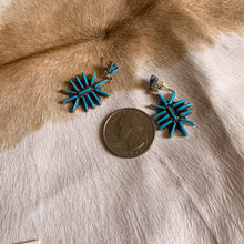 Load image into Gallery viewer, Turquoise Zuni Shield Drop Earrings