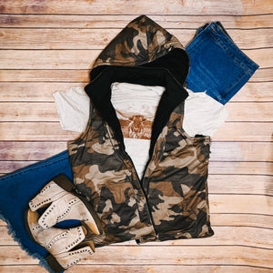 Reversible Quilted Camo Vest