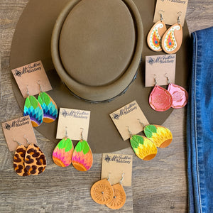 McIntire Saddlery Leather Earrings