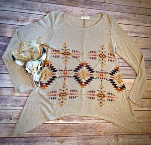 Khaki Tribal Tunic