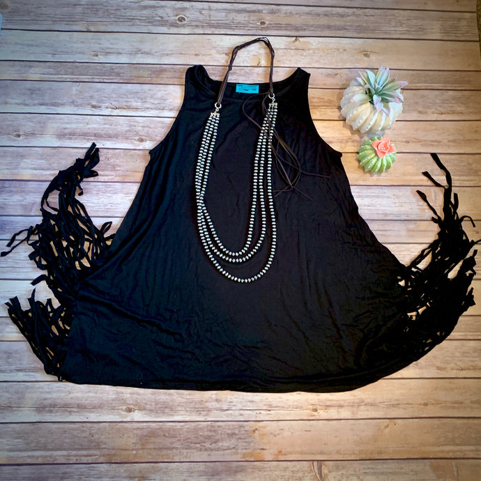 Midnight Fringe Tank
