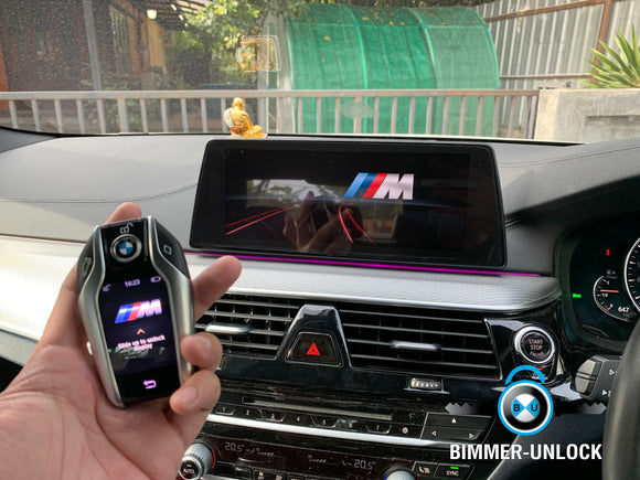 BMW Series 5 G30 520D Coding Apple CarPlay Full Screen + M logo display key