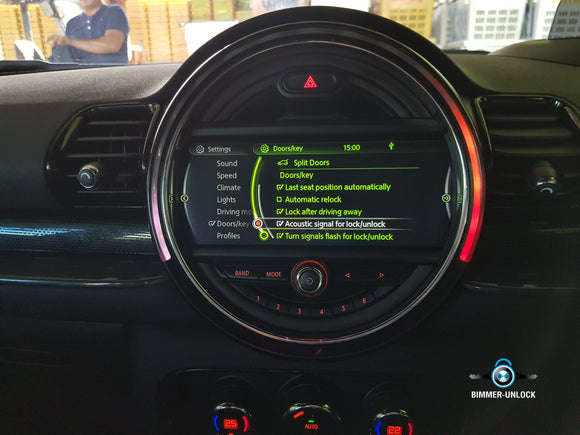 BMW Acoustic Lock Confirm Active by USB NBT - bimmer-unlock