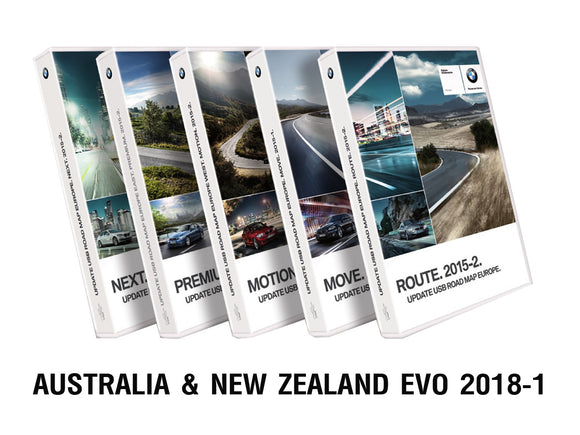 BMW Road Map AUSTRALIA & NEW ZEALAND EVO 2019-1